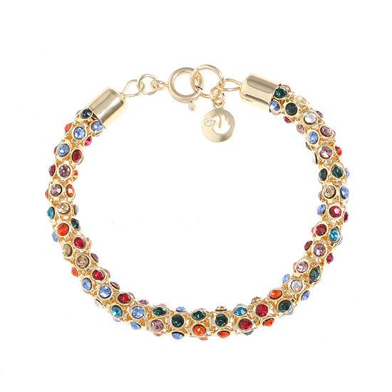 Gloria Vanderbilt Multi Color 7.5 Inch Chain Bracelet