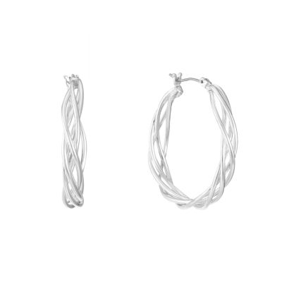 Gloria Vanderbilt 36.8mm Hoop Earrings