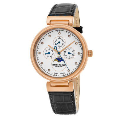 Stuhrling Womens Gray Strap Watch-Sp16304