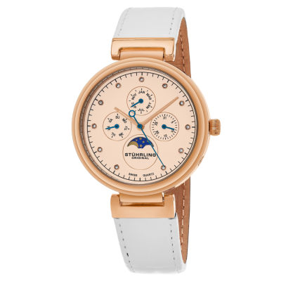 Stuhrling Womens White Strap Watch-Sp16305