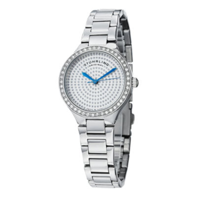 Stuhrling Womens Silver Tone Bracelet Watch-Sp14920
