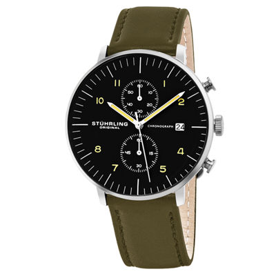 Stuhrling Mens Green Strap Watch-Sp16056