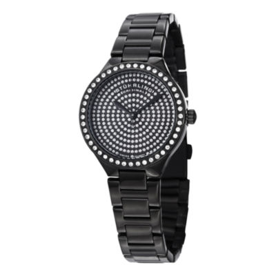 Stuhrling Womens Black Stainless Steel Bracelet Watch-Sp14921