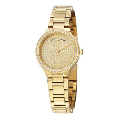 Stuhrling Womens Gold Tone Stainless Steel Bracelet Watch-Sp14922