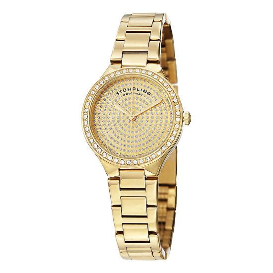 Stuhrling Womens Gold Tone Stainless Steel Bracelet Watch-Sp14922