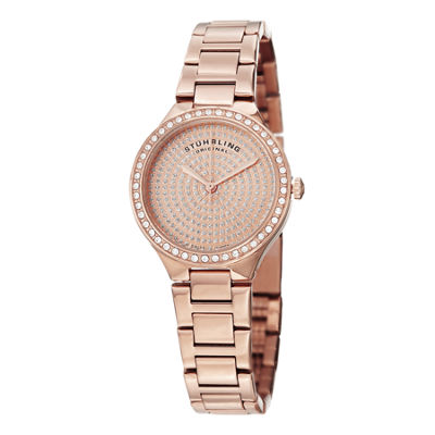 Stuhrling Womens Rose Goldtone Bracelet Watch-Sp14923