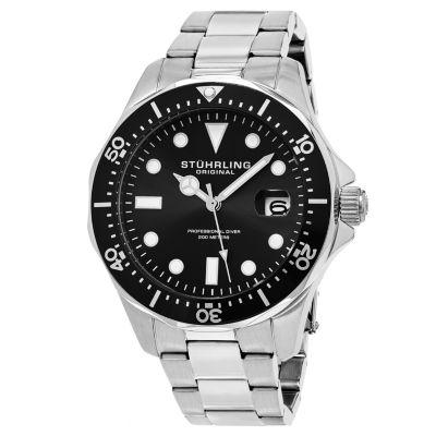 Stuhrling Mens Silver Tone Bracelet Watch-Sp15494