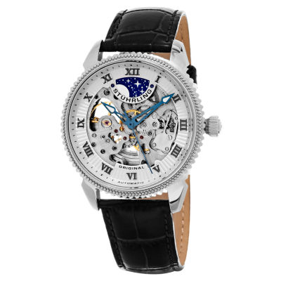 Stuhrling Mens Black Strap Watch-Sp15618