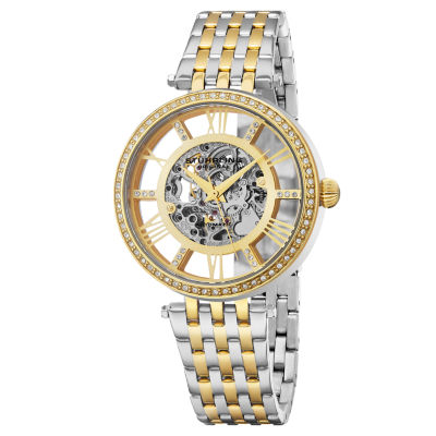 Stuhrling Womens Automatic Two Tone Stainless Steel Bracelet Watch-Sp16316
