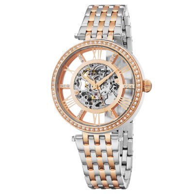 Stuhrling Womens Automatic Two Tone Stainless Steel Bracelet Watch-Sp16317