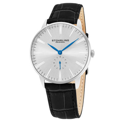Stuhrling Mens Black Strap Watch-Sp16366