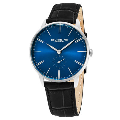 Stuhrling Mens Black Strap Watch-Sp16368