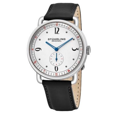 Stuhrling Mens Black Strap Watch-Sp16389