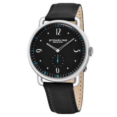 Stuhrling Mens Black Strap Watch-Sp16391