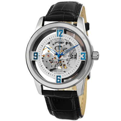 Stuhrling Mens Black Strap Watch-Sp15181