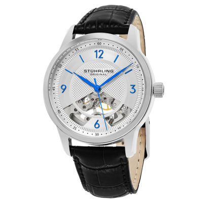 Stuhrling Mens Black Strap Watch-Sp15507