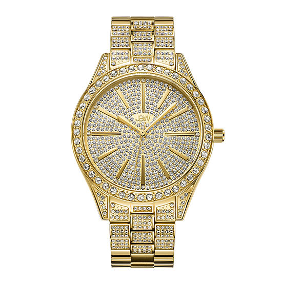 JBW Cristal 18K Gold Over Stainless Steel 1/8 CT. T.W. Genuine Diamond Bracelet Watch-J6346a