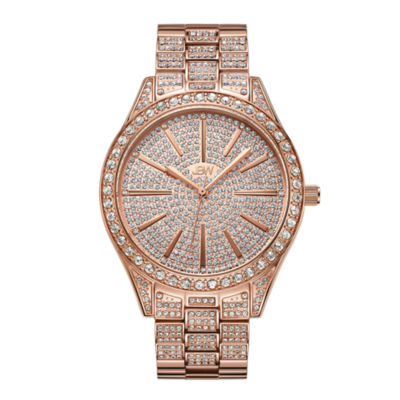 JBW Cristal 18k Rose Gold-Plated Stainless Steel 0.12 C.T.W Diamond Accent Womens Rose Goldtone Bracelet Watch-J6346b