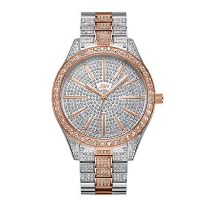JBW Cristal Stainless Steel 0.12 C.T.W Diamond Accent Womens Two Tone Bracelet Watch-J6346e