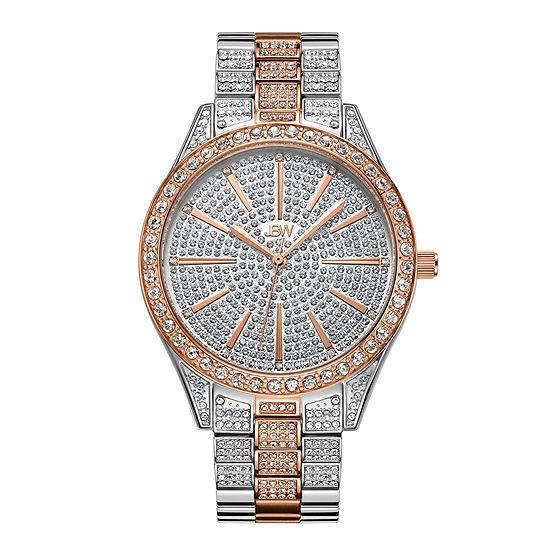 JBW Cristal 18K Gold Over Stainless Steel1/8 CT. T.W. Genuine Diamond Bracelet Watch-J6346e