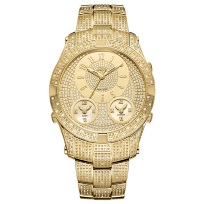 JBW Jet Setter III 18k Gold-Plated Stainless Steel 1.18 C.T.W Diamond Accent Mens Gold Tone Bracelet Watch-J6348a