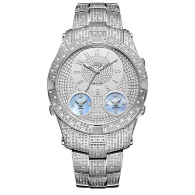 JBW Jet Setter III Stainless Steel 1 1/2 CT. T.W Genuine Diamond Bracelet Watch-J6348b