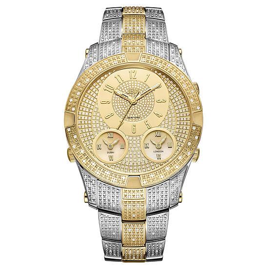 JBW Jet Setter III 18K Gold Over Stainless Steel 1 1/2 CT. T.W Genuine Diamond Bracelet Watch-J6348a
