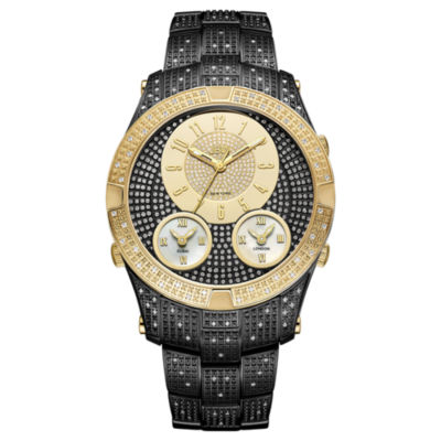 JBW Jet Setter III Black Ion-Plated Stainless Steel  1 1/2 CT. T.W Genuine Diamond Bracelet Watch-J6348e