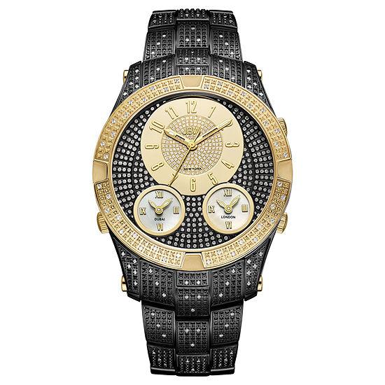 JBW Jet Setter III Black Ion-Plated Stainless Steel  1 1/2 CT. T.W Genuine Diamond Bracelet Watch-J6348e