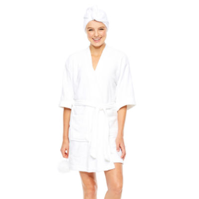 N/A Long Sleeve Woven Robe