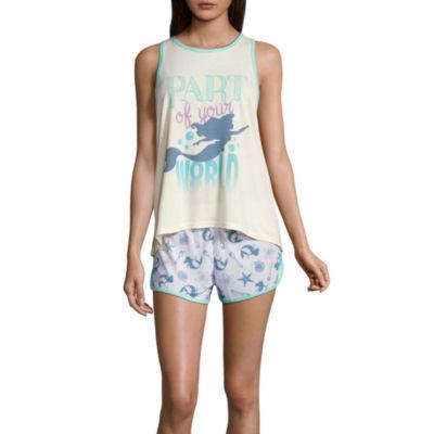 Disney Little Mermaid Shorts Pajama Set