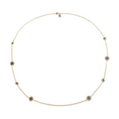 Monet Jewelry Womens Purple Strand Necklace