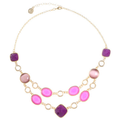 Liz Claiborne Womens Purple Collar Necklace
