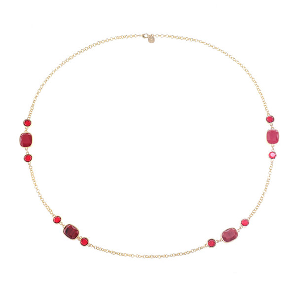 Monet Jewelry Womens Red Strand Necklace