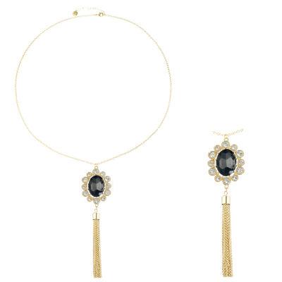 Monet Jewelry Womens Gray Pendant Necklace