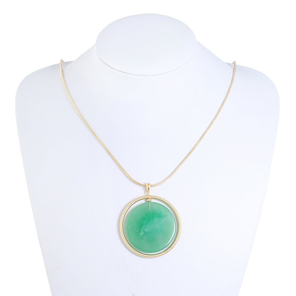 Monet Jewelry Green Pendant