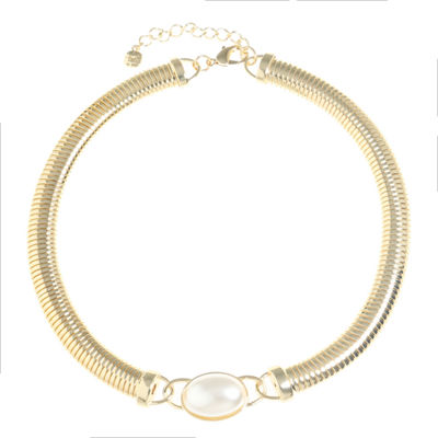 Monet Jewelry Womens White Simulated Pearl Collar Necklace