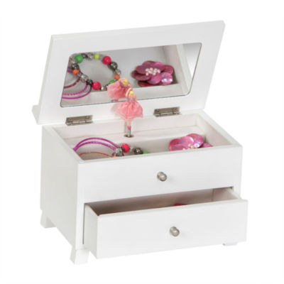 Mele Co Girls White Wooden Musical Ballerina Jewelry Box JCPenney