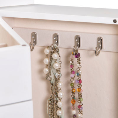 Mele & Co. Wooden Jewelry Armoire in White Finish