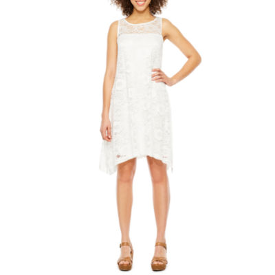 Robbie Bee Sleeveless Lace Floral Swing Dresses