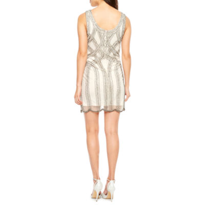 Msk Sleeveless Beaded Sheath Dress
