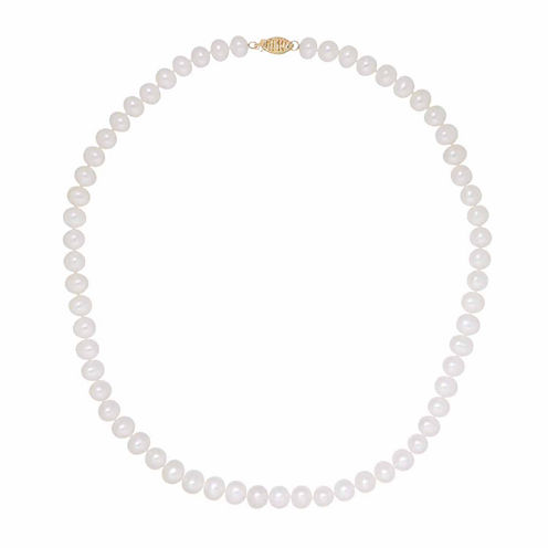 Sofia Womens White Pearl 14K Gold Strand Necklace