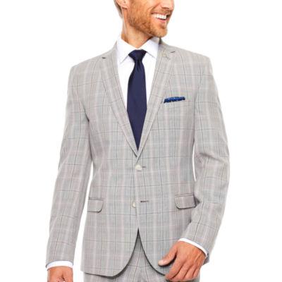 Nick Graham Black White Plaid Suit Set