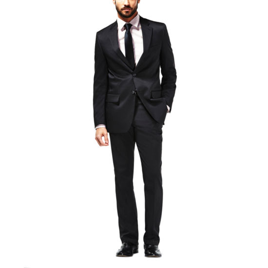 Haggar Travel Performance Micro Tonal Streip Classic Fit Suit Jacket