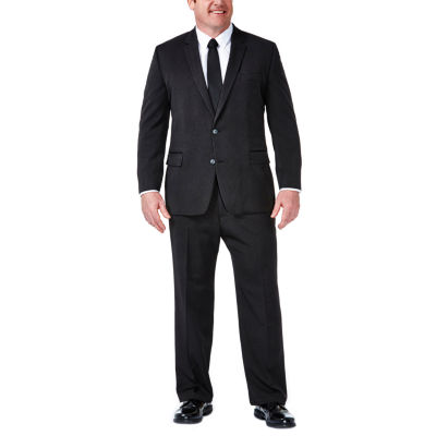 Haggar Stripe Classic Fit Stretch Suit Jacket-Big and Tall