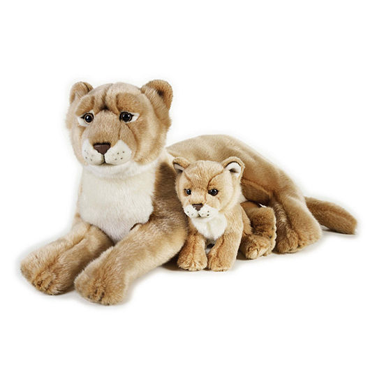 National Geographic Plush  Lioness With Baby