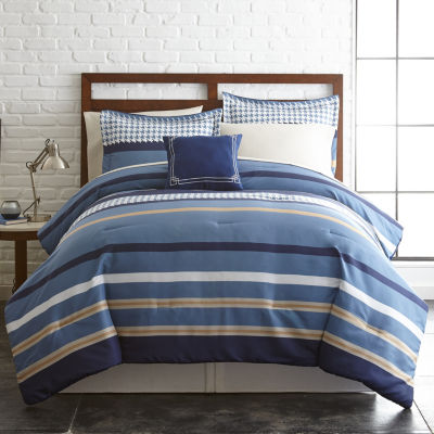 Pacific Coast Textiles 8-pc. Stripes Complete Bedding Set with Sheets
