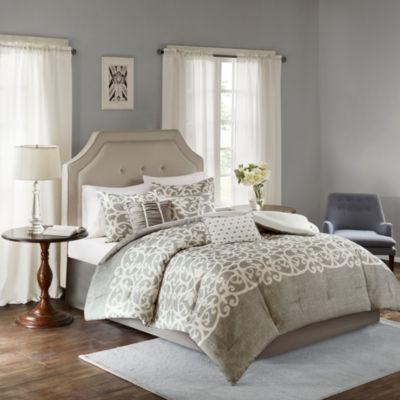 Madison Park Novella Texture Printed 7-pc. Comforter Set