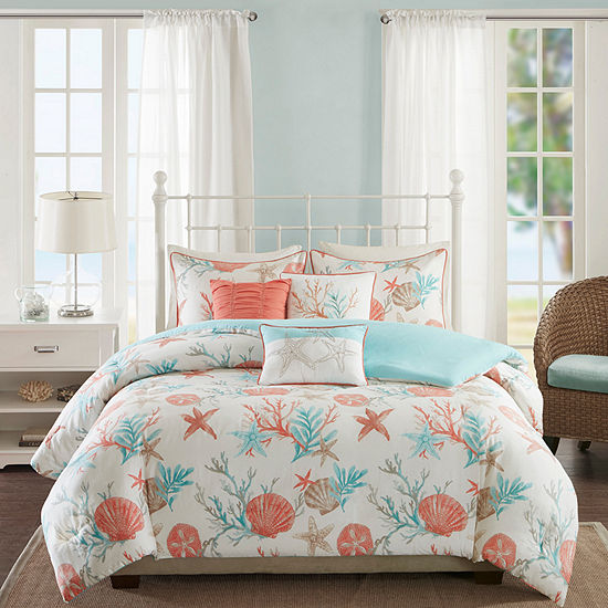 Madison Park Pacific Grove Cotton Sateen 6 Pc Duvet Cover Set