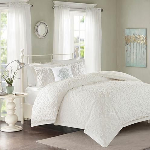 Madison Park Sarah Cotton Chenille 4-pc. Comforter Set